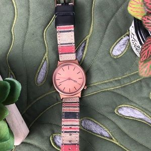 Komono Wizard Stripe Print Watch